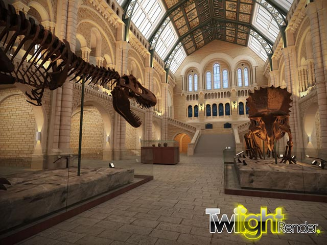 Twilight Render - Day at the Natural History Museum in London