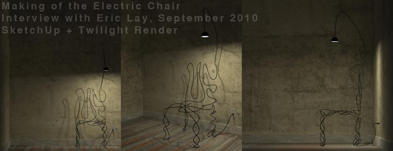 Twilight Render of Electric Chair by Eric Lay